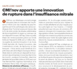 CMI'nov brings breakthrough innovation in mitral insufficiency